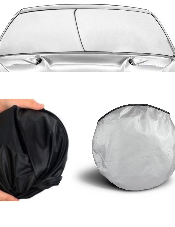 APSG Windshield Sun Shade (EZ Install, EZ FOLD, EZ Store) Fold-able Dash Protector UV hot Cold Summer Winter Sunshade Window