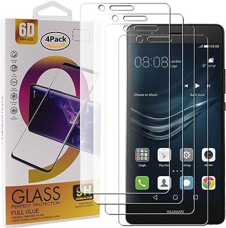 Guran 4 Paquete Cristal Templado Protector de Pantalla para Huawei ...