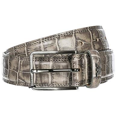 Emporio Armani ceinture homme en cuir gris EU 90 Y4S269 YDY3J 80035 ... 98ba3fae905