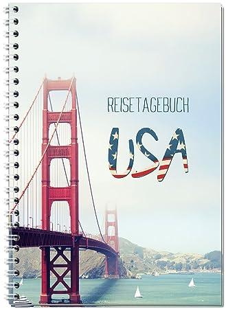 Reisetagebuch Usa Amerika Zum Selberschreiben Notizbuch A5