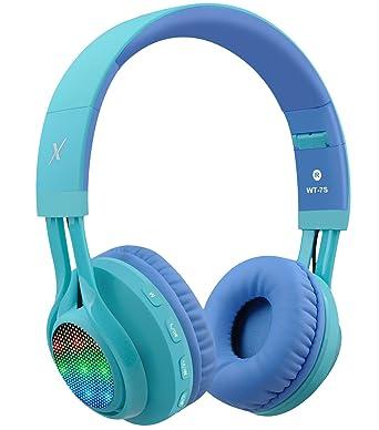 Riwbox wt-7s Bluetooth Auriculares luz Up, Plegable Stero Auriculares inalámbricos con micrófono y