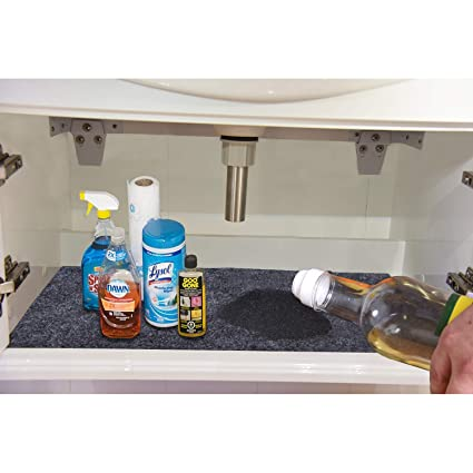 Amazon Com Under The Sink Mat For Cabinet Drawer Kitchen Tray