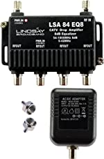 4-Port Cable TV/Antenna/HDTV/Internet Digital Signal Amplifier/Booster/Splitter/Equalizer with Passive Return, F59 Terminators