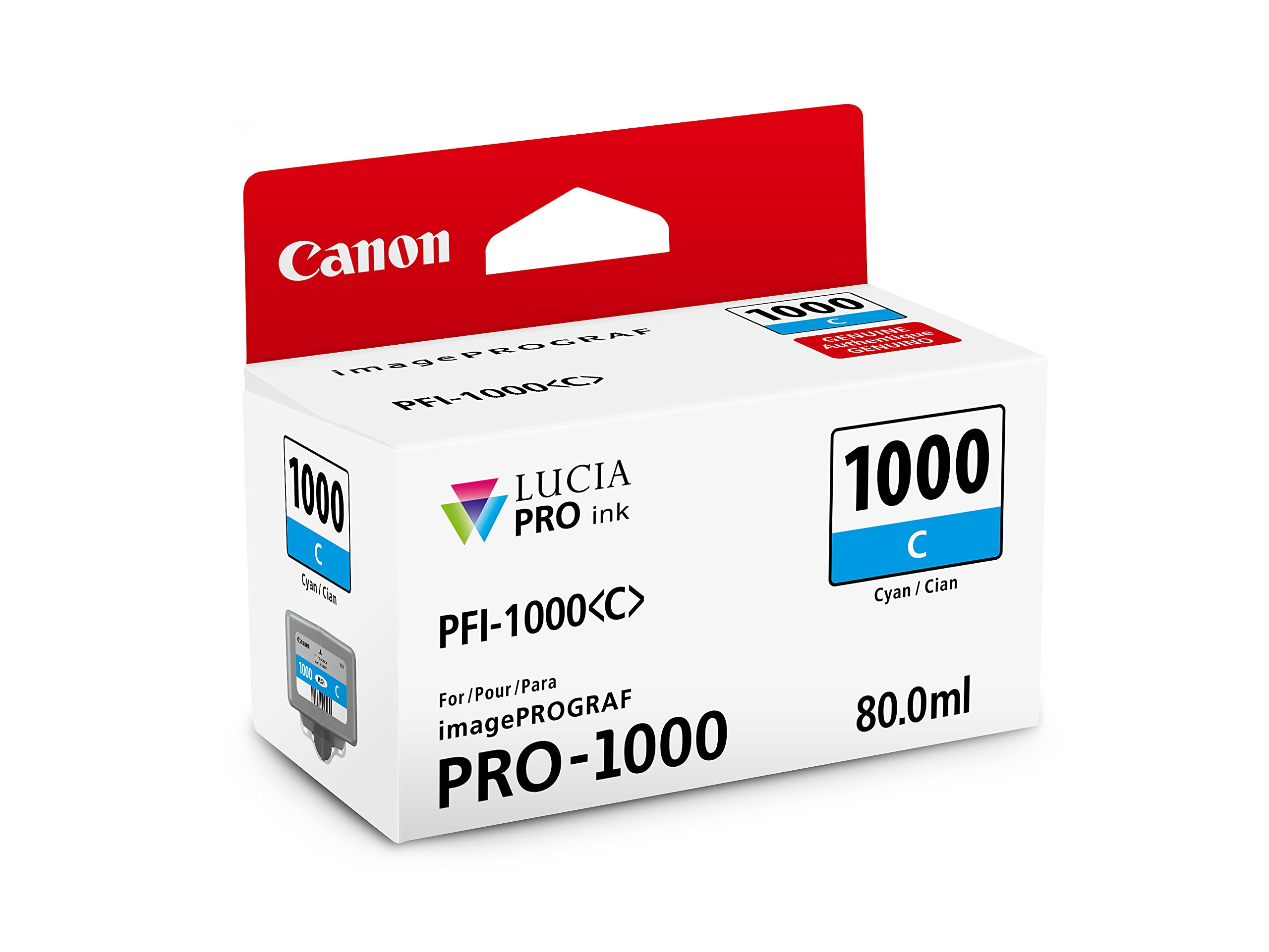CanonInk LUCIA PRO PFI-1000 Cyan Individual Ink Tank