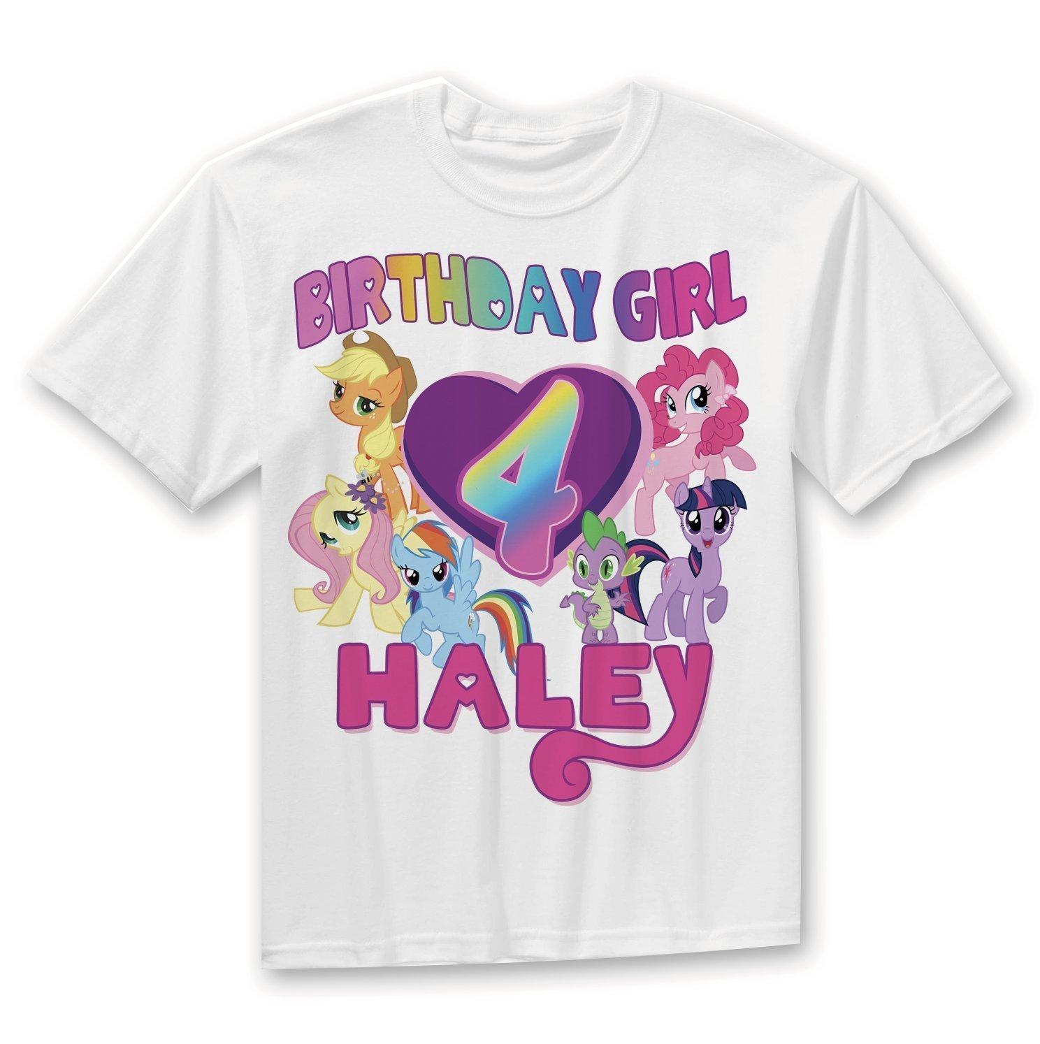My Little Pony Birthday Shirt, Rainbow Birthday Girl shirt