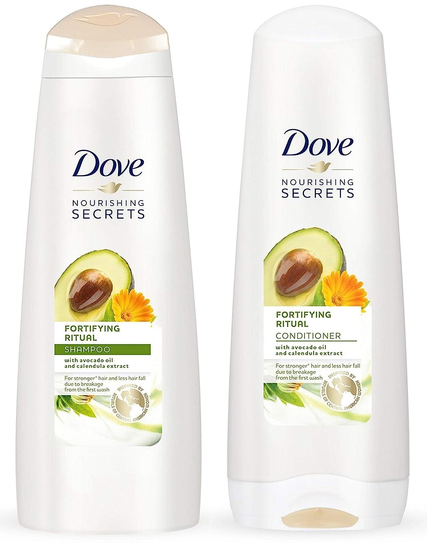 Dove Nourishing Rituals Haircare - Fortifying Ritual - Shampoo & Conditioner Set - Net Wt. 12 FL OZ (355 mL) Per Bottle - One Set