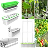 "Big Smart Hydroponics Growing System self Watering Planter with Built-in Pump and Smart Reminder 60"" Climbing Trellis Super I"