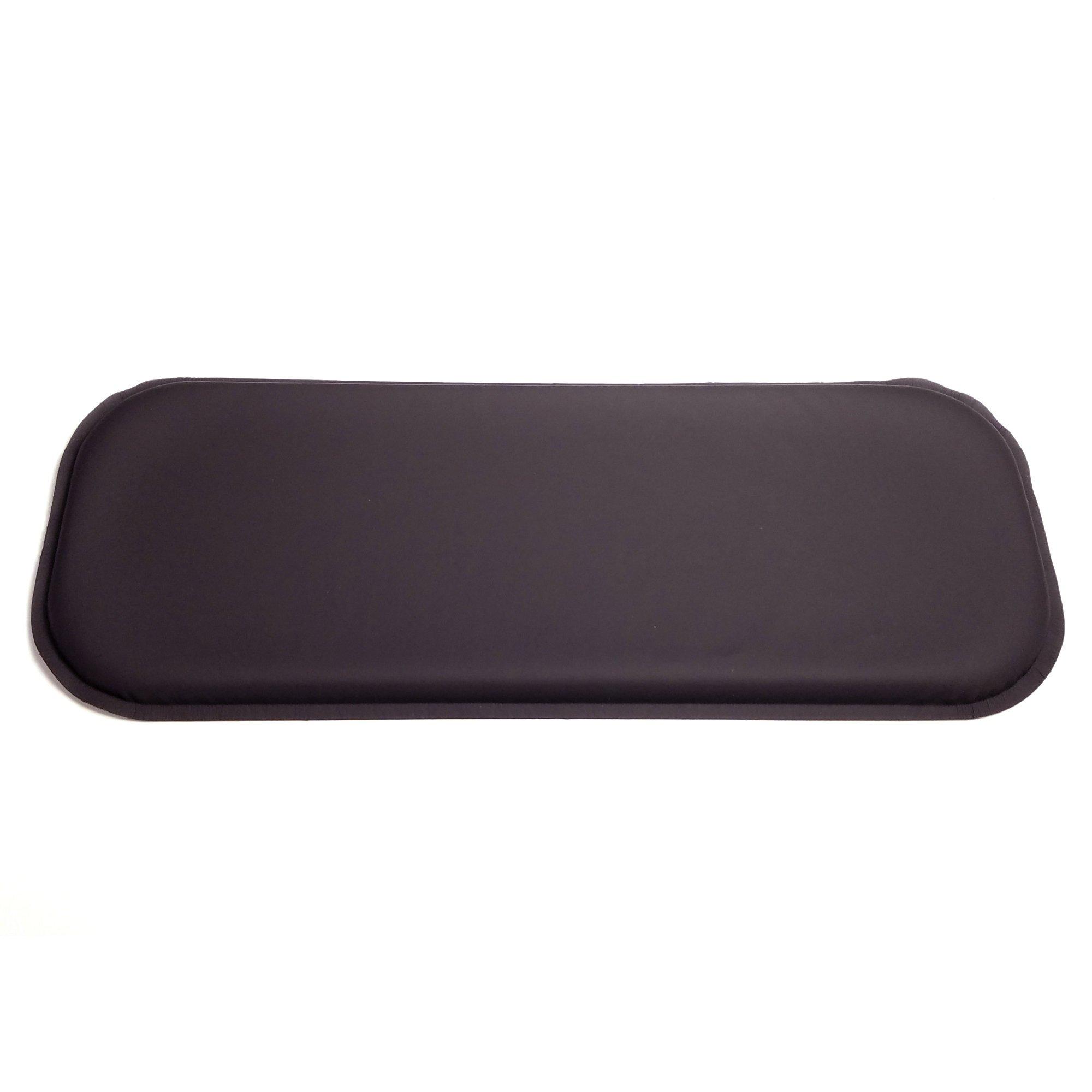 ULTRAGEL ''Gaming'' Super Comfy Arm/Elbow/Wrist Rest Gel Pads (SLIM 5x12.5, Black)