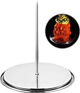 GriAddict Brazilian BBQ Skewers Hack, Al Pastor Stick - Gyro Spit Shawarma Stand for Oven - Stainless Removable Skewers Rack for Grilling, Vertical Grilling Rack Meat Spit, Turkey Hanger for Smoker