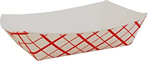 Southern Champion Tray 0421 #250 Southland Paperboard Food Tray, 2-1/2 lb Capacity, Red Check (Case of 500)
