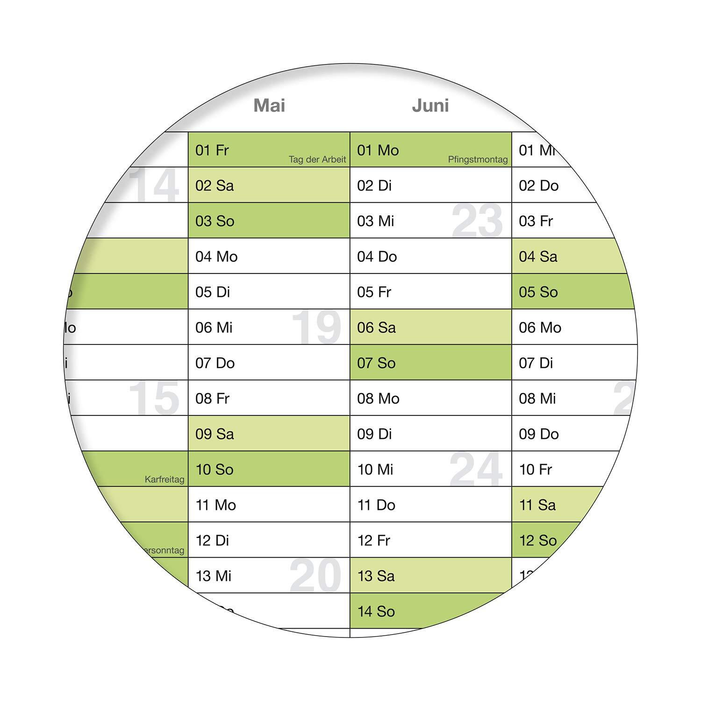 WANDKALENDER//JAHRESKALENDER 2020 DIN A2 59,4 X 42,0 CM MIT FERIENANGABEN ABWISCHBAR GEROLLT GR/ÜN