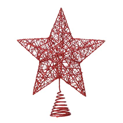 Red Star Christmas Tree Topper - Amazon.com: Red Star Christmas Tree Topper: Home & Kitchen