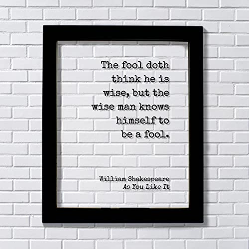 Amazon Com William Shakespeare Floating Quote As You