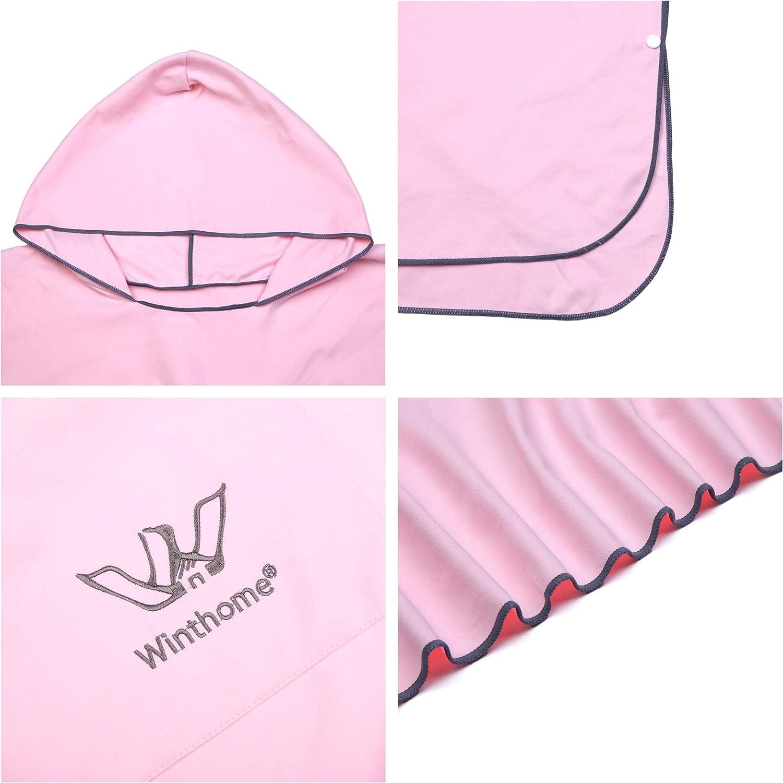 Winthome Poncho Cambiador de Toalla con Bolsillo para Surf Cambio de Traje Secado r/ápido y Peso Ligero nataci/ón