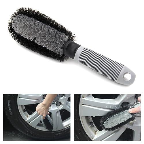 Aodoor Brosses pour Jantes Auto, Brossepour nettoyage jantes alu auto voiture brosse de nettoyage avec poignée en plastique