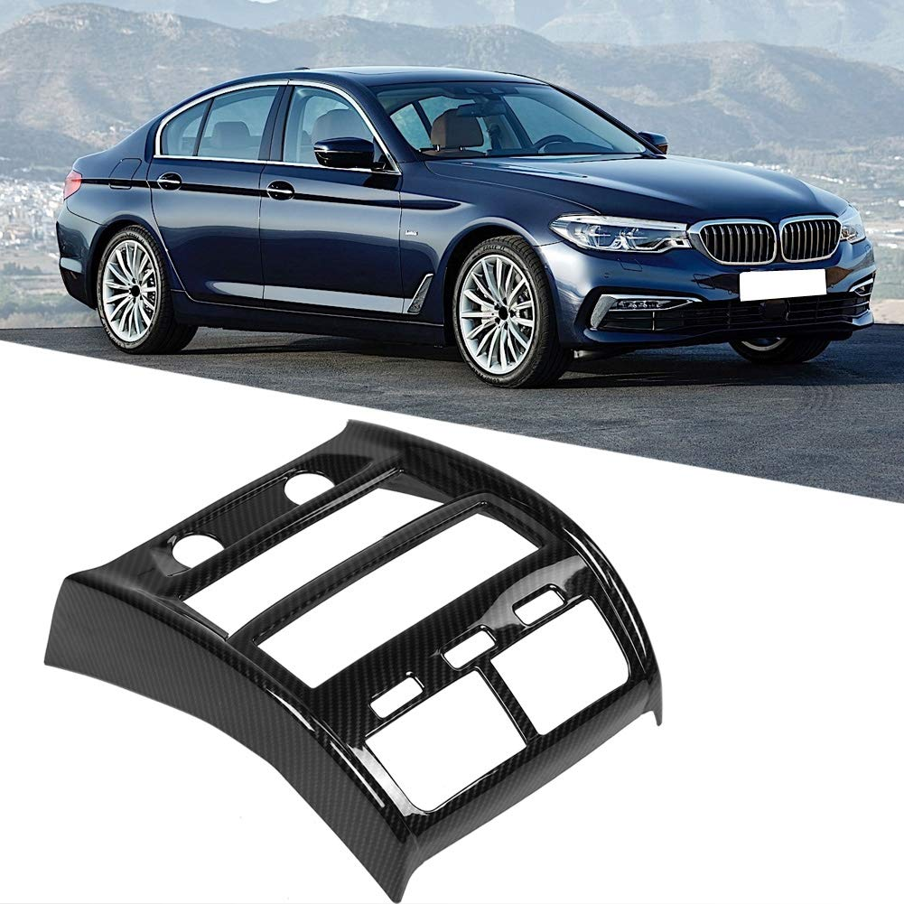 Carbon Fiber Style Rear Air Conditioning Vent Outlet Frame Trim for 5 Series G30 17-18 Rear Air Outlet Trim