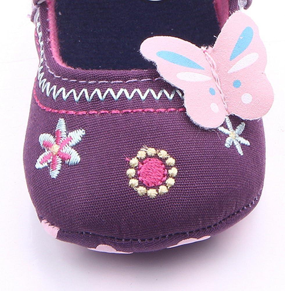 Weixinbuy Newborn Baby Princess Girls Bowknot Crib Shoe Mary Jane Shoes