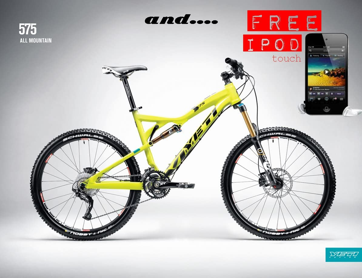 MOUNTAIN BIKE Yeti 575 Enduro SRAM 26er.. with FREE iPod: Amazon ...