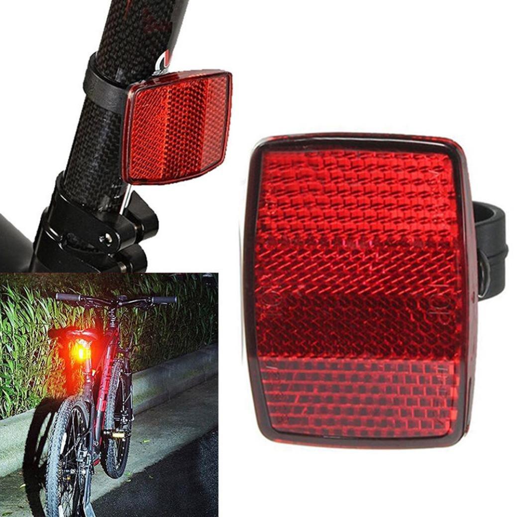 Bike Reflector,Chartsea Handlebar Mount Safe Reflector Bicycle Bike Front Rear Warning Red/White (Red)
