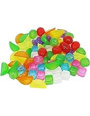 COM-FOUR® Cubetti di ghiaccio riutilizzabili in vari disegni, cubetti di ghiaccio party in colori vivaci