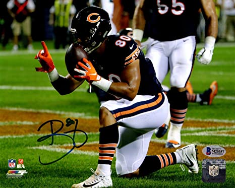 8a035143 Image Unavailable. Image not available for. Color: Beckett BAS Trey Burton  Autographed Signed Chicago Bears ...