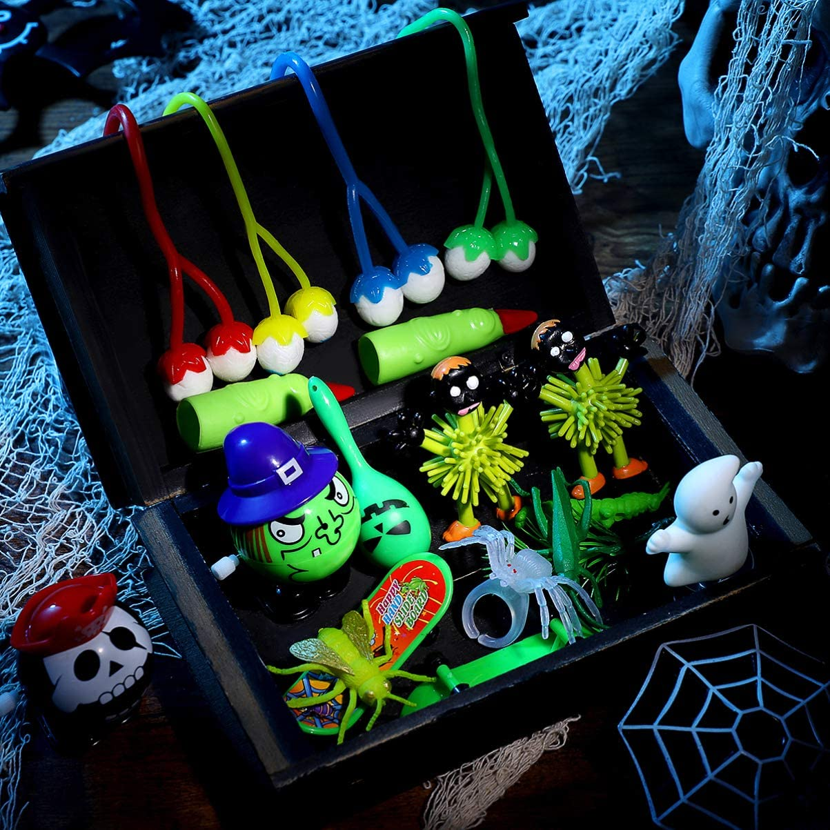 Halloween Party Favors for Kids Halloween Toys Assortment for Halloween Prank Toys Halloween Treasure Box