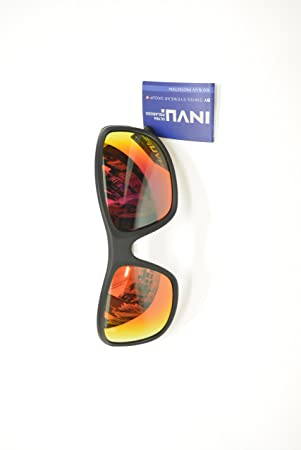 Gafas de sol polarizadas INVU a 2501 F negro espejo rojo elástica indeformabile Lentes 100%