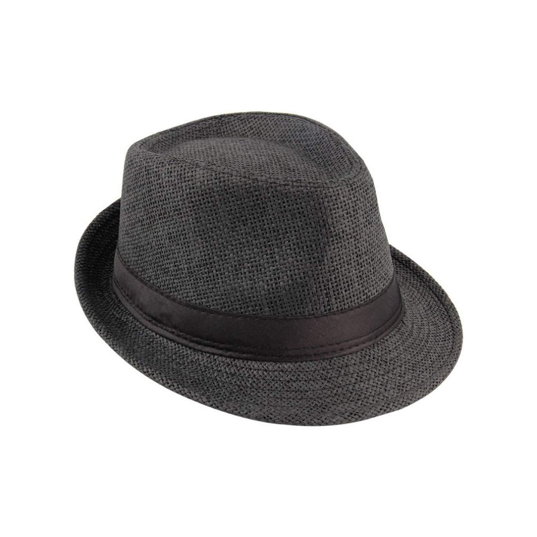 KKONION Women Straw Sunhat Summer Beach Fedora Trilby Gangster Hats Cap Straw Panama Style Packable Travel hat