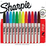 1 X Sanford Sharpie SAN30075 Permanent Markers, Fine Point, Assorted, Case of 12 Dozens
