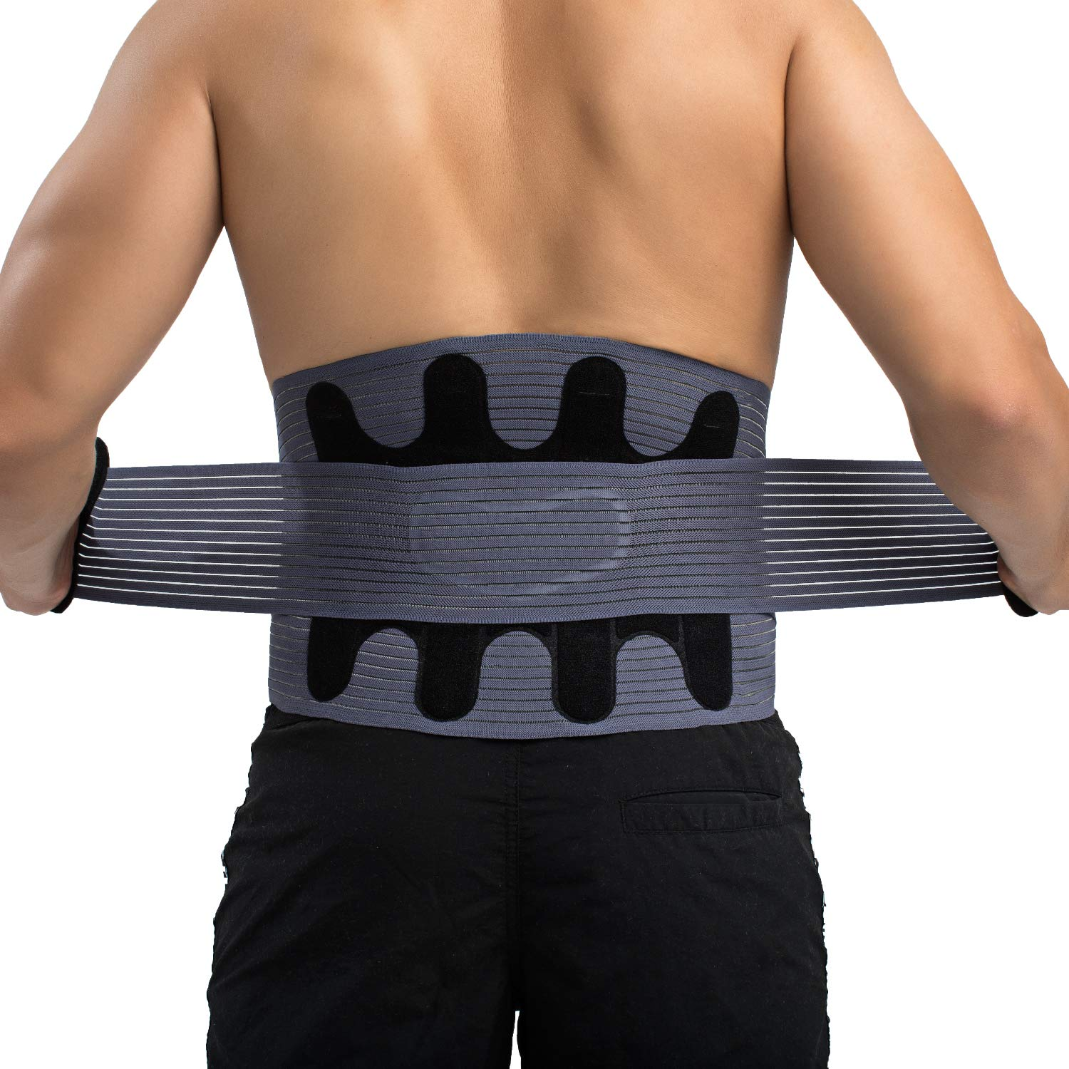 Athlete Elite Back Support Brace and Posture Corrector (Neoprene) Relieve Sciatica, Lower Lumbar, Joint, Herniated Disc Pain | Adjustable, Breathable Heat Compression | Men, Women [ M - 35'']
