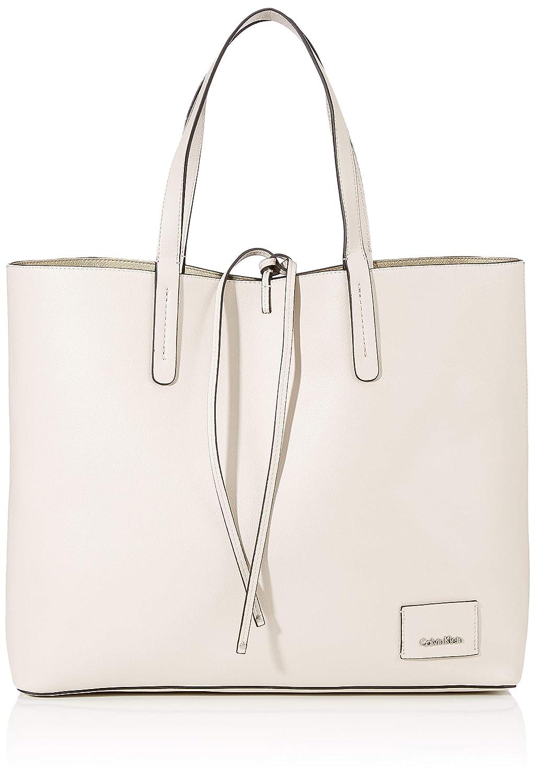 Calvin Klein Ck Reversible Shopper, Cabas Cabas femme Blanc (Cement/Light Gold) 14x35x42 cm (B x H T) K60K604265