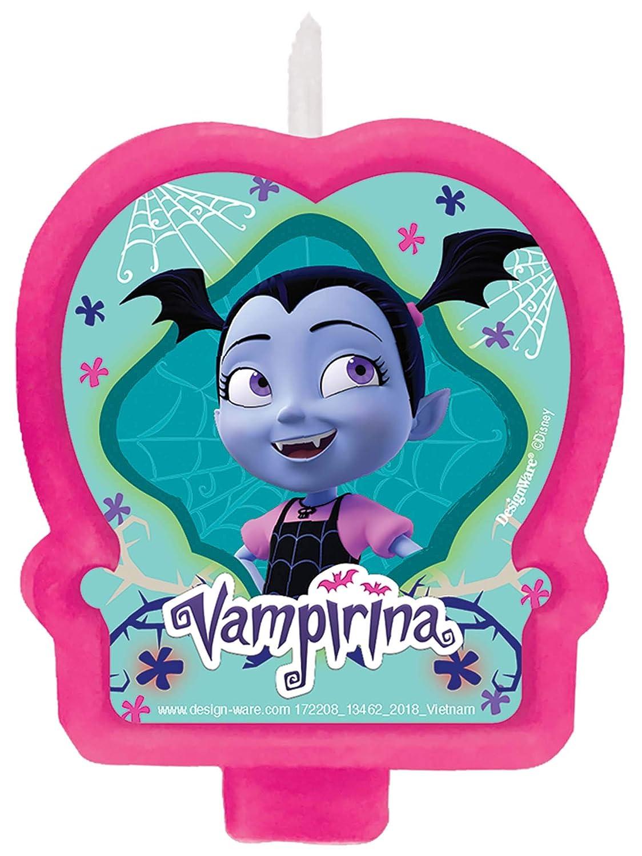 amscan Disney Vampirina - Vela de cumpleaños: Amazon.es: Hogar