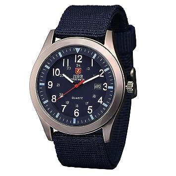 zeiger military mens watches analogue quartz date watch for man zeiger military mens watches analogue quartz date watch for man navy blue nylon band sport wristwatch