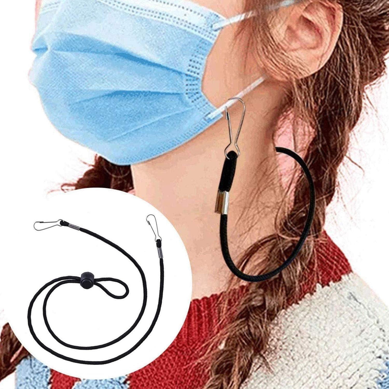 10PCS Mask Extender Lanyards Colori Assortiti Regolabile Anti-perso Bocca Bocca Maschera Orecchio Savers Straps Titolari per Bambini Adulti 30in Lunghezza