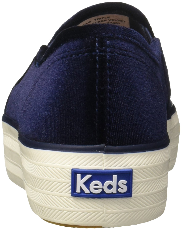 Keds Women's Triple Decker Metallic Canvas Fashion Sneaker B06XDHFMRL 7 B(M) US|Velvet Navy