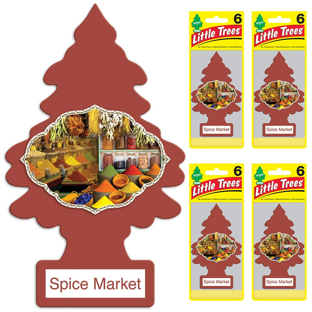 LITTLE TREES auto air freshener, Spice Market, 6-packs (4 count)
