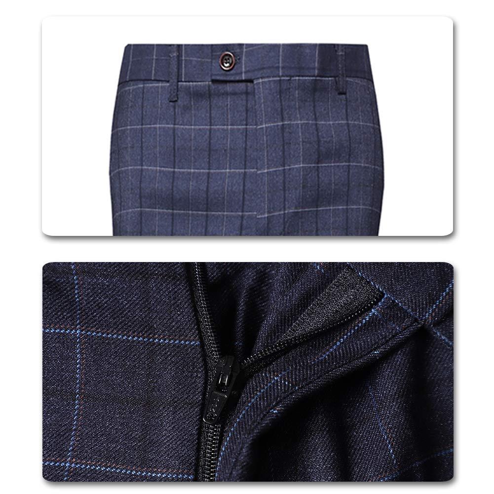 Amazon.com: Pantalones para hombre de ajuste recto, planos ...