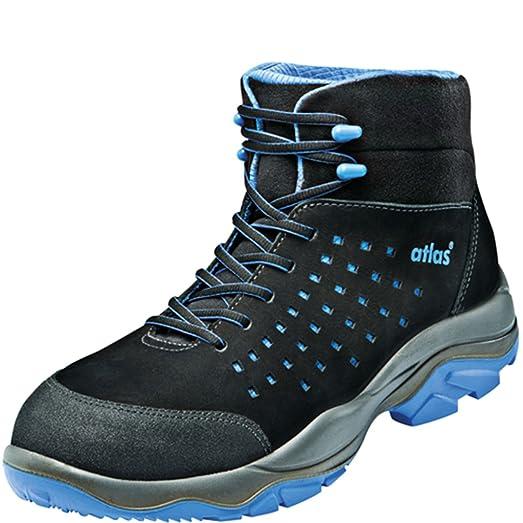 Atlas Chaussure De Sécurité Esd 42 Sl Bleu Dans La Gamme 10 Selon La Norme Iso 20345 De Src S1, Noir, Taille 41