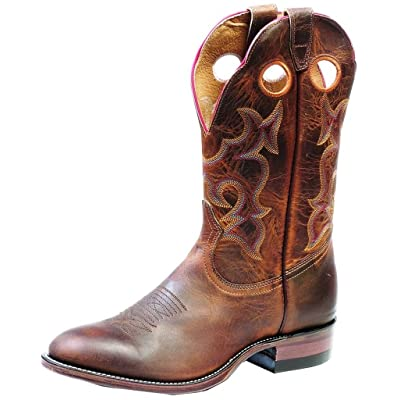 539a2c161cc Boulet Men's Chocolate Roper Cowboy Boot Round Toe - 9282 ...