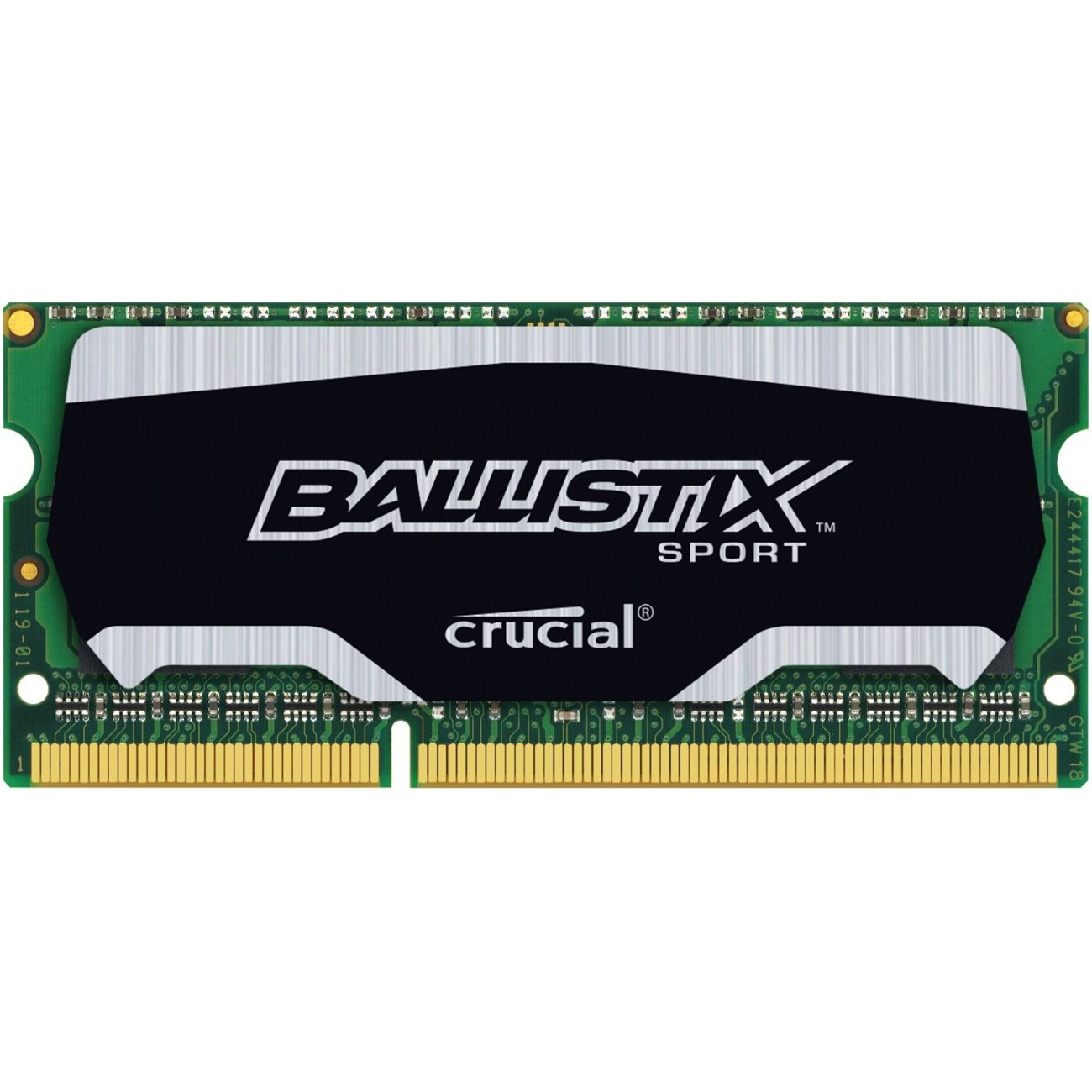 Ballistix Sport 8GB Single DDR3 1866 MT/s (PC3-12800) SODIMM 204-Pin Memory - BLS8G3N18AES4 by Ballistix