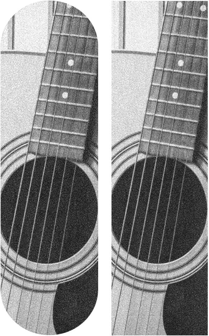 33.1x9.1inch Patines de deporte al aire libre Cinta de agarre Guitarra eléctrica Ventiladores de música Imprimir Cinta de agarre de monopatín de color impermeable para tabla de baile Plataforma de t