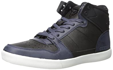 GUESS Men's M-Jaleel Fashion Sneaker, Navy, ...