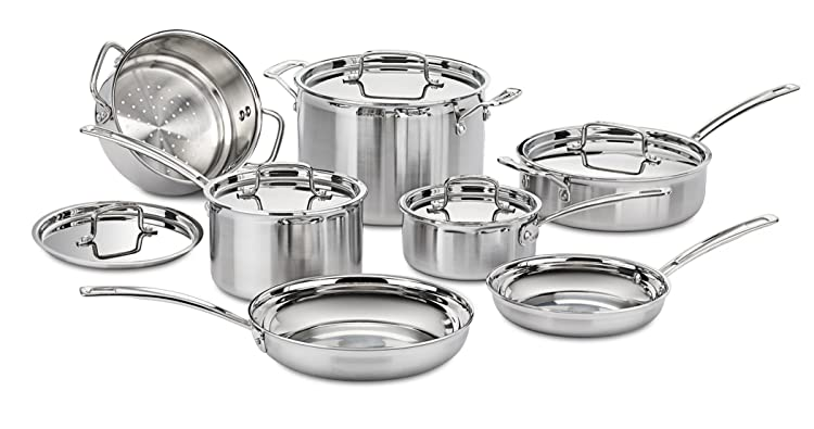 Cuisinart MCP-12N MultiClad Pro Stainless Steel 12-Piece Cookware