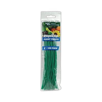 Luster Leaf 848 Plant Twist Tie 8in : Twist Ties Green : Garden & Outdoor