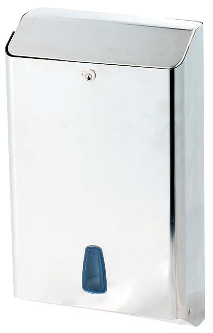 Marplast towelinox dispensador de toallas de papel de acero inoxidable pulido MP 800 – 400stk.