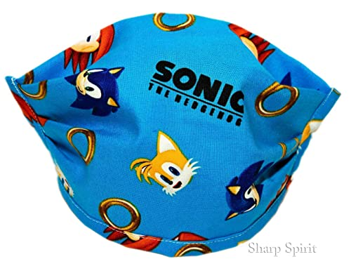 Amazon Com 100 Cotton Made In Usa Sonic The Hedgehog Washable Reusable Fabric Cloth Face Mask W Pocket For Filter Handmade