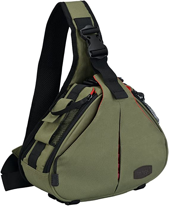 Caden Kompakte Kameratasche Sling Schulter Cross Bag Kamera