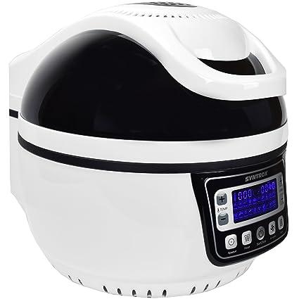 ... de aire caliente Aire Caliente vaporizador freidora Air de Fryer con pantalla LED, 10 L (, Max. 250 °, libre de grasa Freír, Negro: Amazon.es: Hogar
