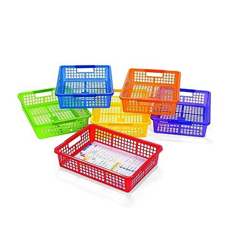 Amazon.com: AULA – Cestas de almacenamiento con asas, color ...