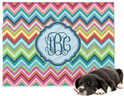 227f3c3536cb Image Unavailable. Image not available for. Color: RNK Shops Retro Chevron  Monogram Minky Dog Blanket ...